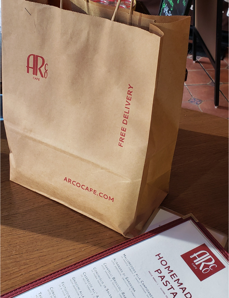 Delivery & Takeout Arco is open for takeout and delivery from 12.30 pm to 9.30 pm.
